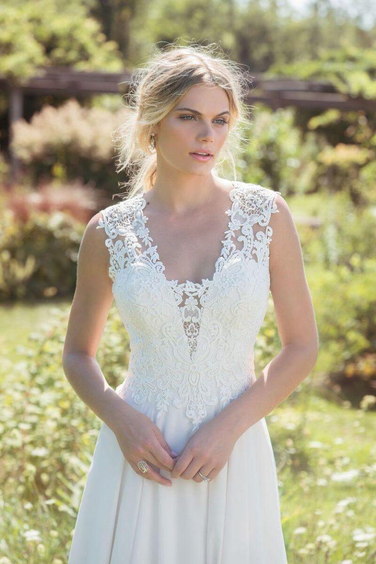 Lillian West 6484 bohemian-trouwjurk
