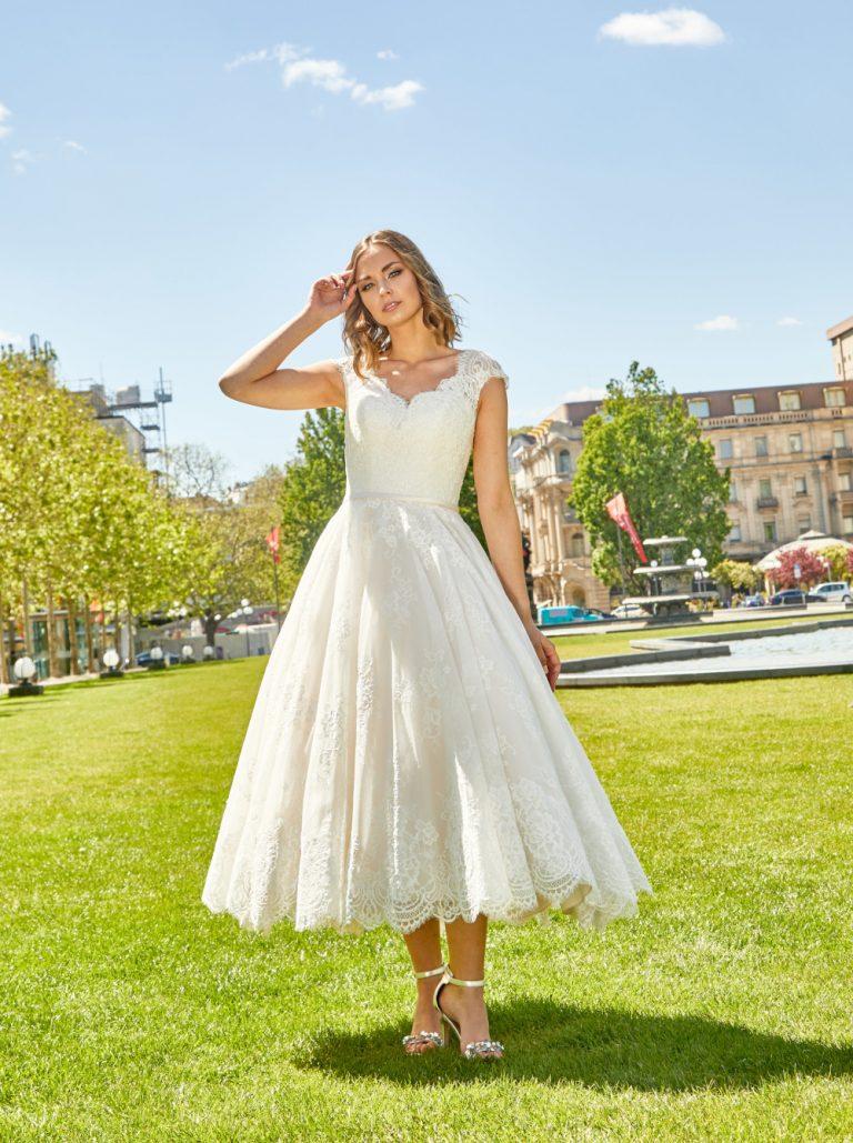 Lisa Donetti 750339 kort-trouwjurk